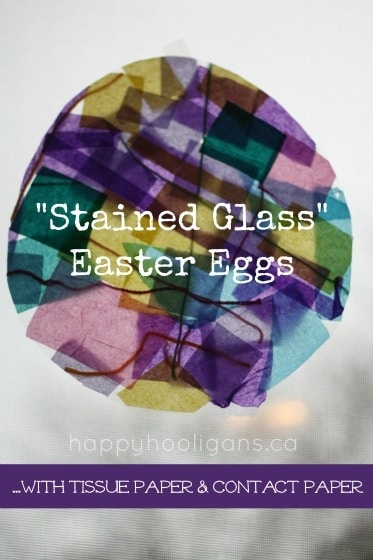 stained glass Easter eggs - happy hooligans