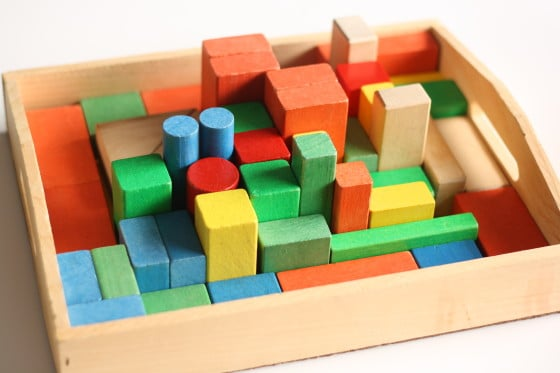 Homemade Block Challenge Puzzle for Kids