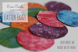 eric carle inspired easter eggs cover shot