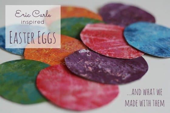 eric carle inspired easter egg craft for kids