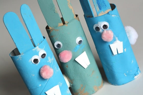 easter crafts for kids toilet roll easter bunnies happy hooligans