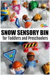 Snow Sensory Bin for Toddlers and Preschoolers