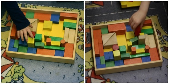 building block challenge collage