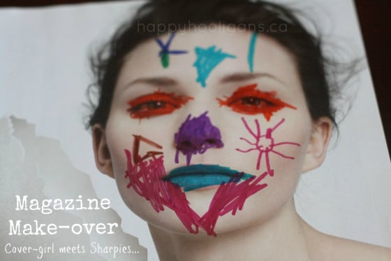 magazine make-over - cover photo