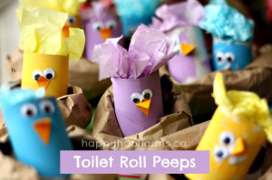 toilet roll peeps - happy hooligans