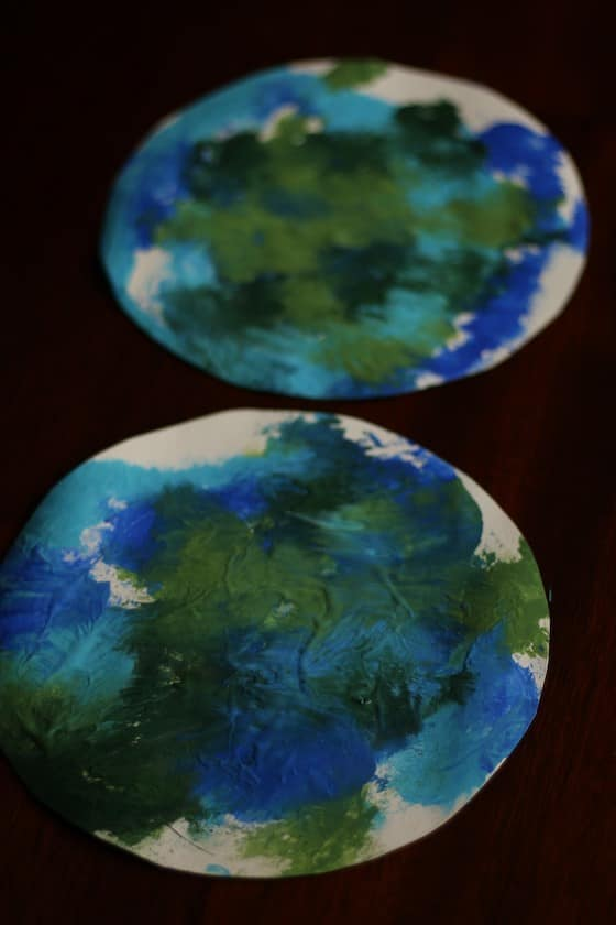 2 painted earth projects