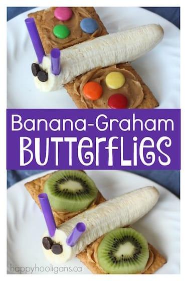 Banana-Graham Butterfly Snacks