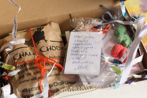 chalk chook's beautifully wrapped selection of homemade chalks