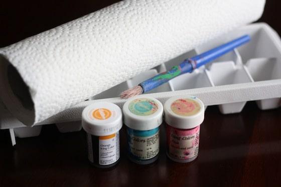 supplies for paper towel butterflies