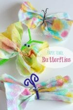 Easy Butterfly Crafts for Kids- 3 Ways to Make Paper Towel Butterflies