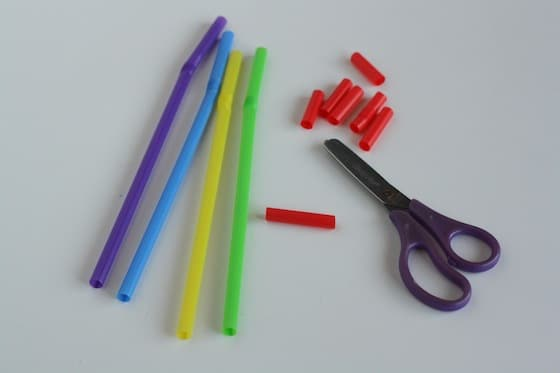 scissor exercises - cutting straws