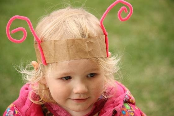 simple pink bug headband