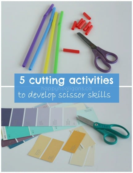 5 Cutting Activities for Toddlers - Happy Hooligans