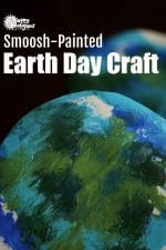 Smoosh Painted Earth Day Craft For Toddlers and Preschoolers