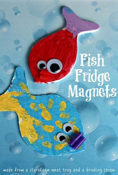 Fish Fridge Magnets for Kids to Make