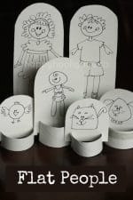 Flat People – a Homemade Paper Doll Family