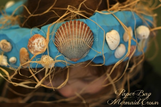Mermaid Crown Craft from a Paper Bag