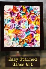 Stained Glass Painting with Bottle Lids and Wax Paper