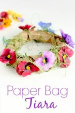 Paper Bag Tiara – an Enchanting Spring Craft for Little Girls