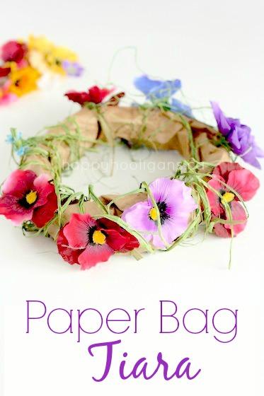 paper bag tiara