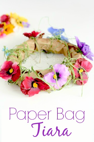 Paper Bag Tiara – an Enchanting Spring Craft for Little Girls