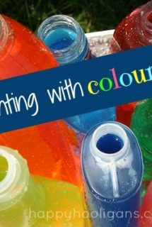 Coloured Water Activity for Toddlers and Preschoolers