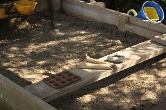 plank for seating and workspace sandbox ideas - Sandbox Design Ideas