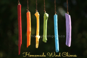 Homemade windchimes for Mother's Day
