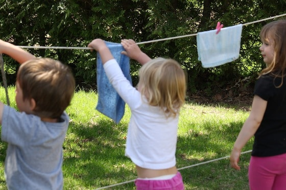 Clothesline Activity For Kids Laundry Day Pretend Play