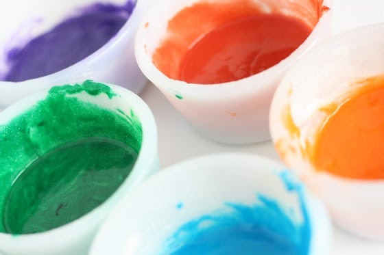 puffy paint made with self-raising flour