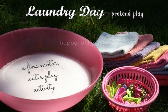 Clothesline Activity for Kids – Laundry Day Pretend Play