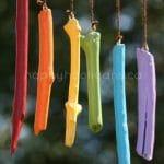 easy rainbow stick wind chimes - happy hooligans