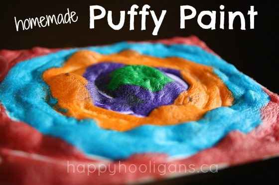 5th most popular Hooligans post of 2013: homemade 3 ingredient puffy paint