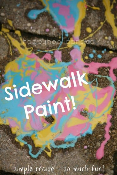 How to Make Homemade Sidewalk Paint For Kids – Easy 3-Ingredient Recipe