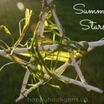 summer stars - painted twig decoration (happy hooligans)