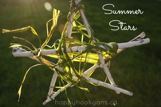 white twig star with green raffia