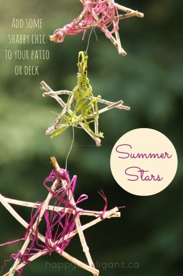 Summer Twig Star Ornaments