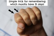 trick for remembering which months have 31 days