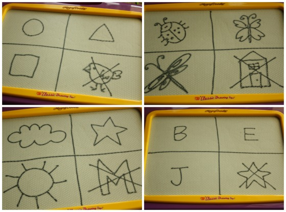 what doesn't belong - process of elimination game for kids using the magnadoodle