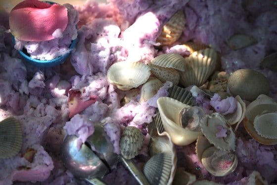 Fairy Mud - a sparkly, gorgeous sensory material made with toilet paper and ivory soap