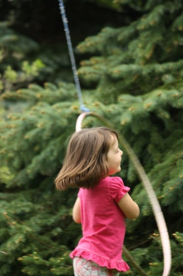 good old fashioned play - a rope and hula hoop activity