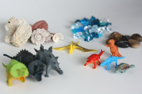 supplies for dino dig activity