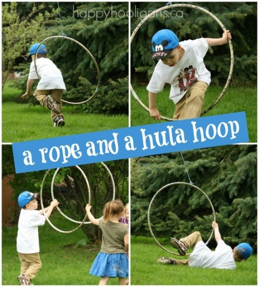 rope and hula hoop activity