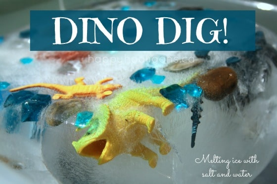 Dino Dig – Melting Ice with Salt and Water