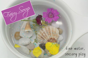 fairy soup - fine motor, sensory play in the garden (happyhooligans