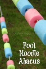 Pool Noodle Abacus for your Backyard Play Space