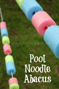 pool noodle abacus