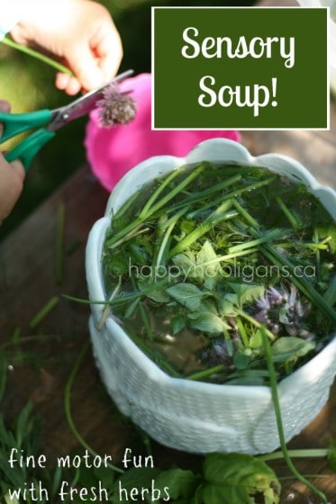 Outdoor Sensory Play – Exploring Fresh Herbs