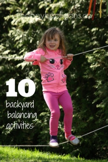 10 backyard balancing activities for toddlers and preschoolers