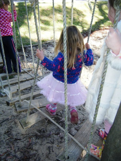 rickety old bridge - balancing activity